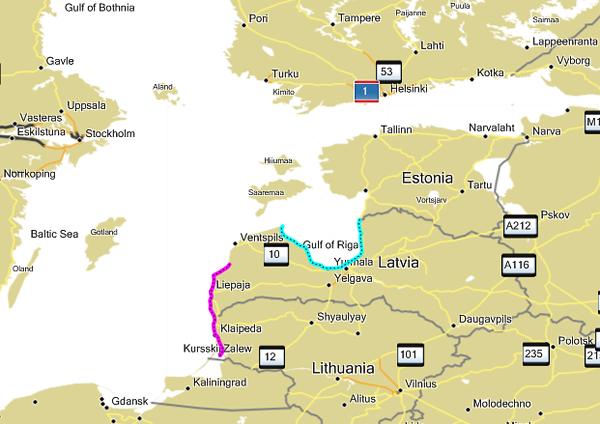 Nobrauktais maršruts: Baltijas jūra