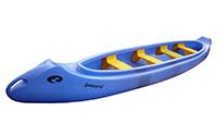 Četrvietīga laiva (Kanoe. 2 pieaugušie + 2bērni)